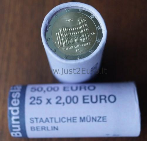 2 Euros Coins Roll 2017 Germany Rhineland Palatinate Porta Nigra