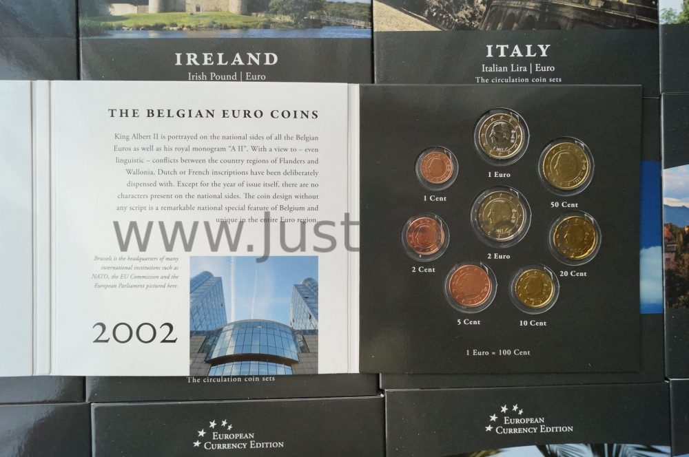European Currency Edition. European country 17+17 sets before and after Euro UNC - Just2Euro