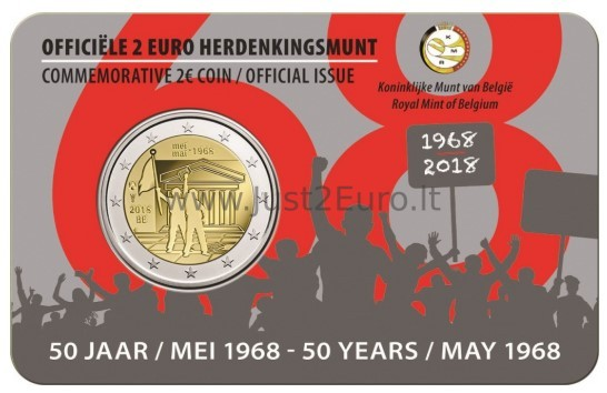 2 Euro Coin Card 2018 Belgium 50th Anniversary Of The