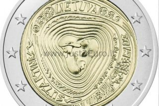 """Lithuania 2 euro coin 2019 /""""Lithuanian multipart songs/"""" UNC"""